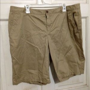 Merona Shorts - Tan chino NWOT Bermuda cotton shorts.